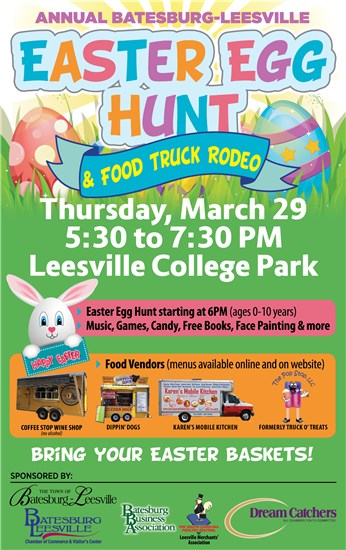 Events Calendar - Annual Egg Hunt and Food Truck Rodeo - 3/29/2018