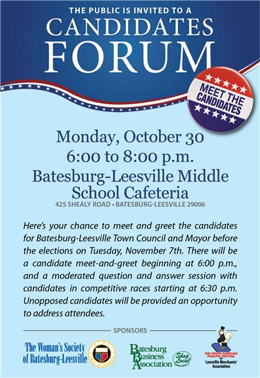 Events Calendar - Candidates' Forum - 10/30/2017 - Town of